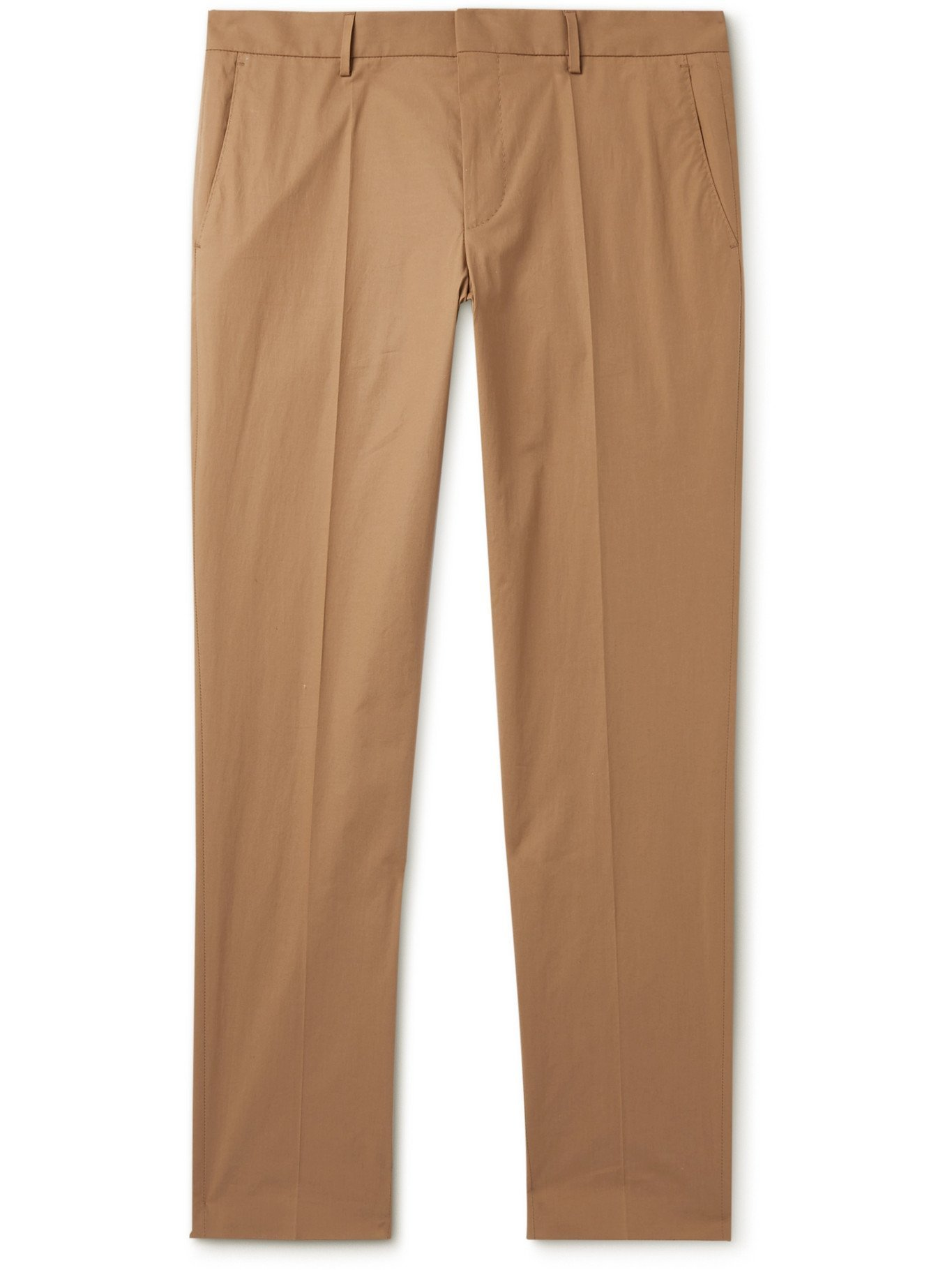 HUGO BOSS - Slim-Fit Stretch-Cotton Suit Trousers - Neutrals