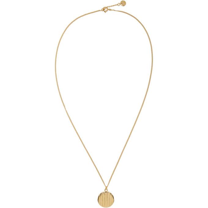 Photo: A.P.C. Gold Stripe Pendant Necklace
