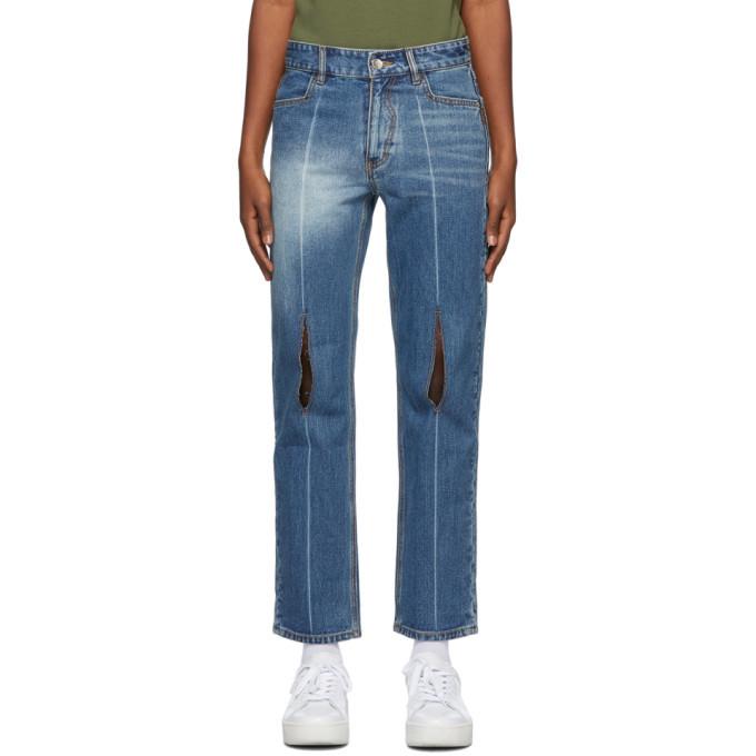 Photo: ADER error Blue Collage Pollshing Jeans