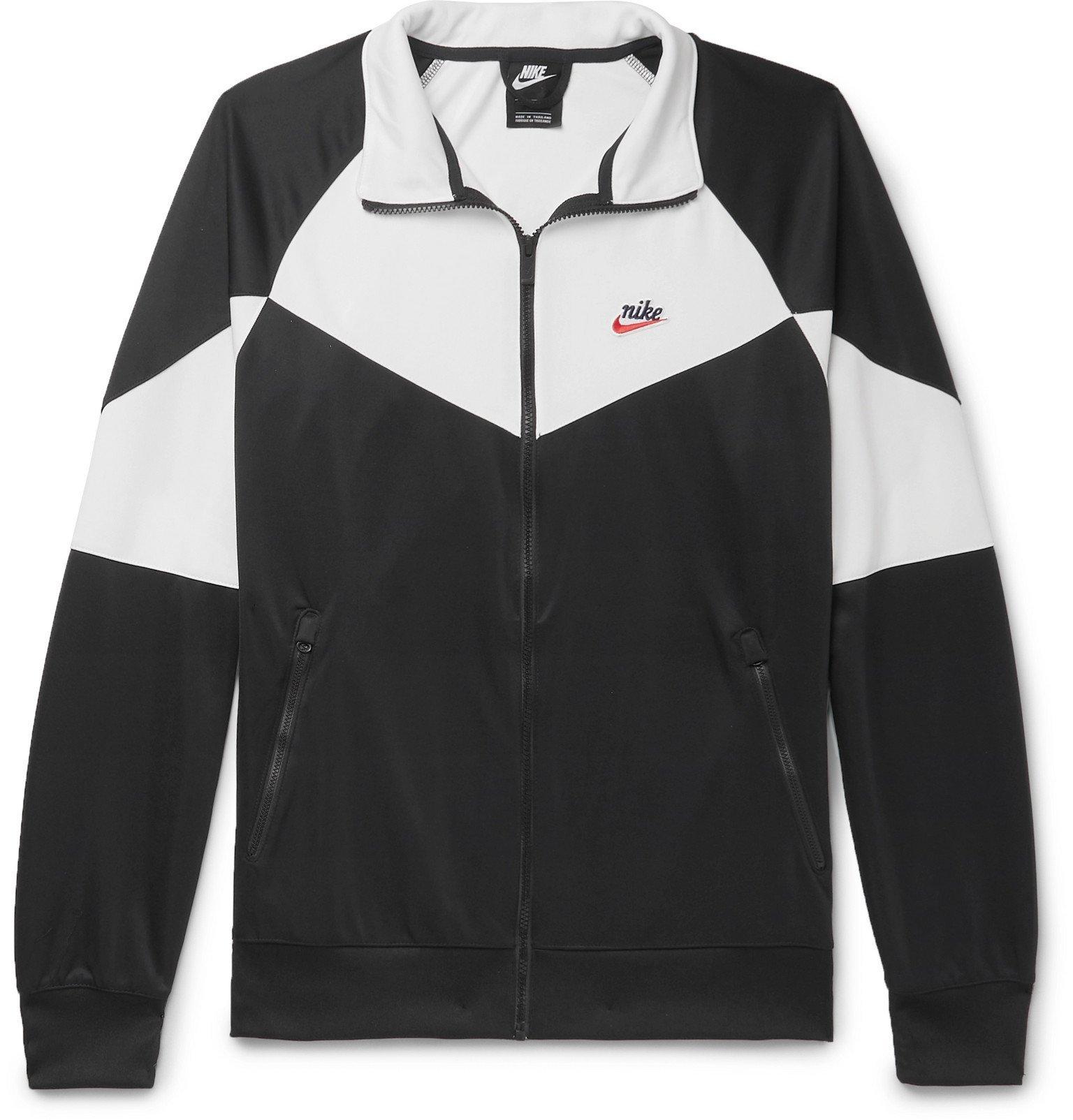 Photo: Nike - Colour-Block Stretch-Shell Zip-Up Sweatshirt - Black