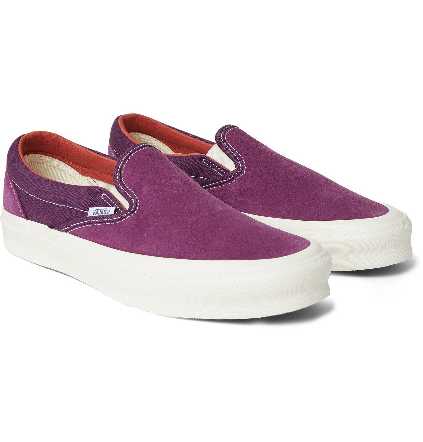 Photo: Vans - OG Classic LX Suede and Canvas Slip-On Sneakers - Purple
