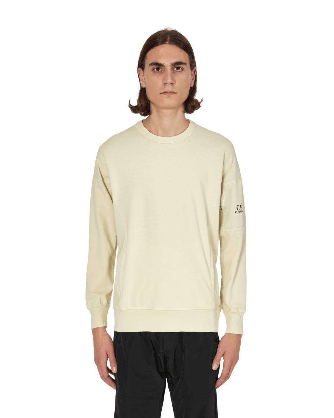 Photo: C.P. Company Crewneck Sweatshirt Oyster Grey