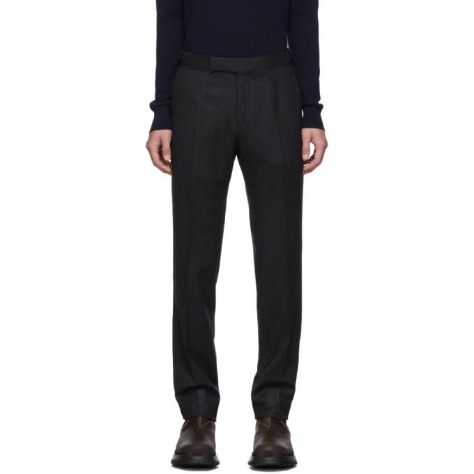 Photo: Ermenegildo Zegna Grey Wool Trousers