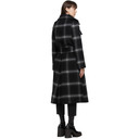 Stella McCartney Black and Grey Check Sophia Coat
