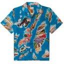 KAPITAL - Camp-Collar Printed Voile Shirt - Blue