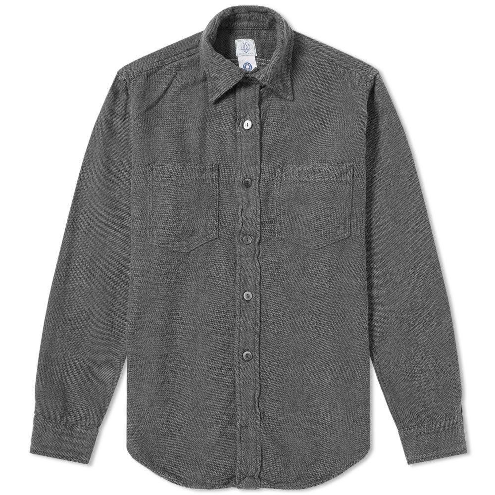 Photo: Post Overalls Flannel Shirt Slate