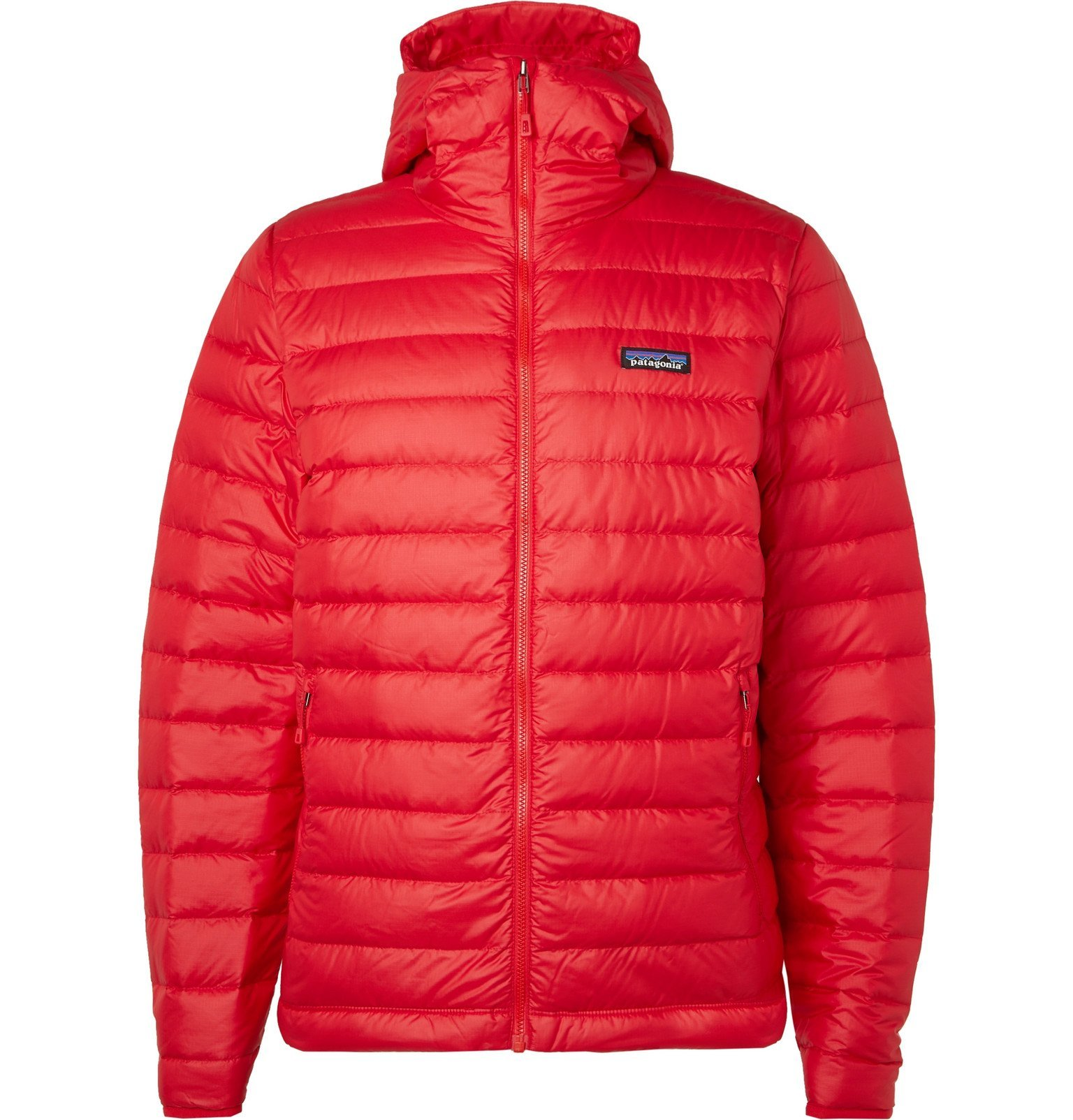 Photo: Patagonia - Quilted DWR-Coated Ripstop Hooded Down Jacket - Red