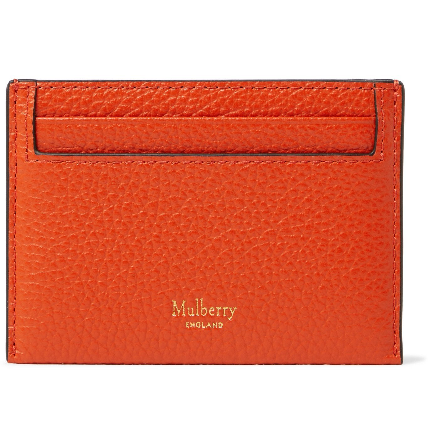 Photo: Mulberry - Full-Grain Leather Cardholder - Orange