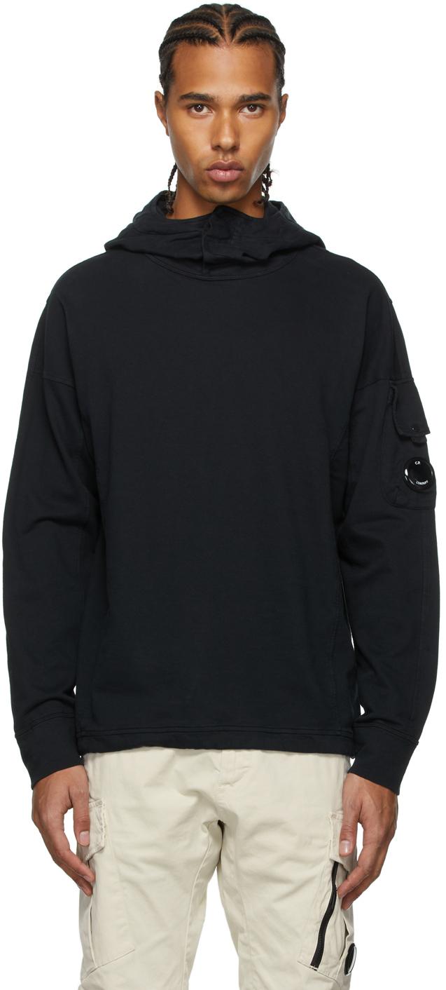 Photo: C.P. Company Black Fleece Stand Collar Hoodie