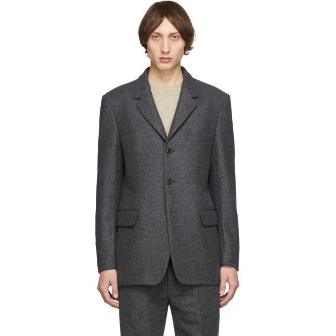 Photo: Lemaire Grey Felted Wool Blazer