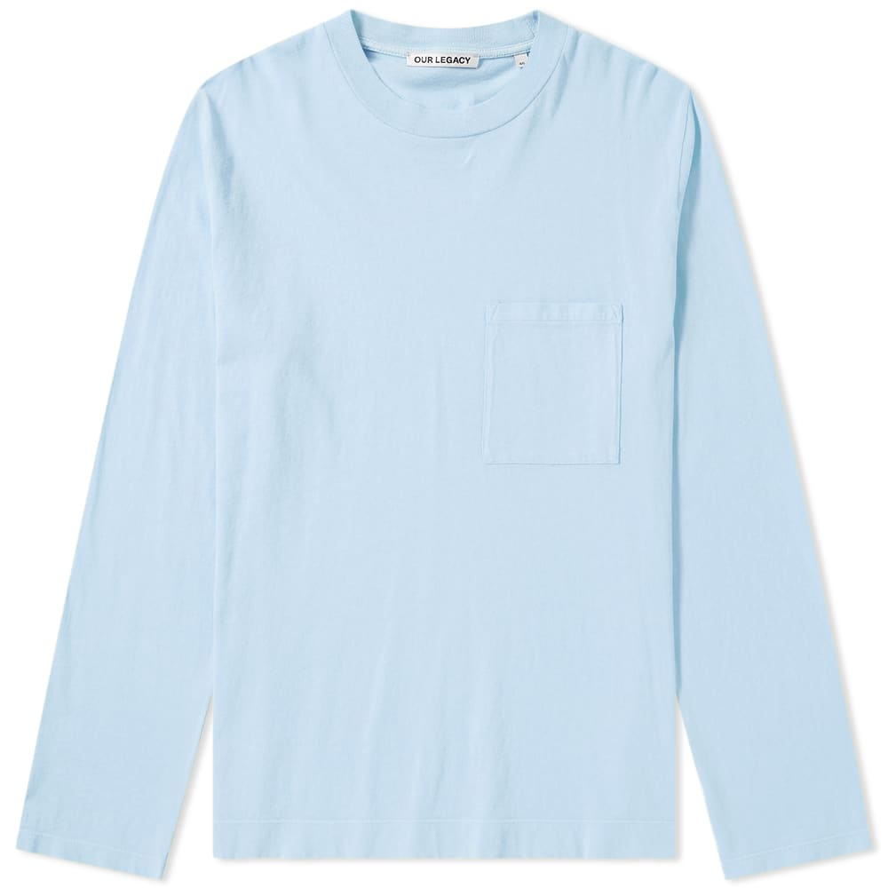 Photo: Our Legacy Long Sleeve Box Tee Blue