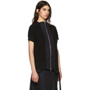 Sacai Black and Navy Classic Knit Top
