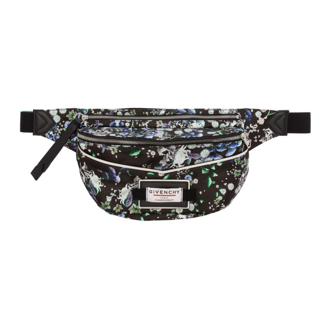 Photo: Givenchy Black Flower Print Downtown Bum Bag