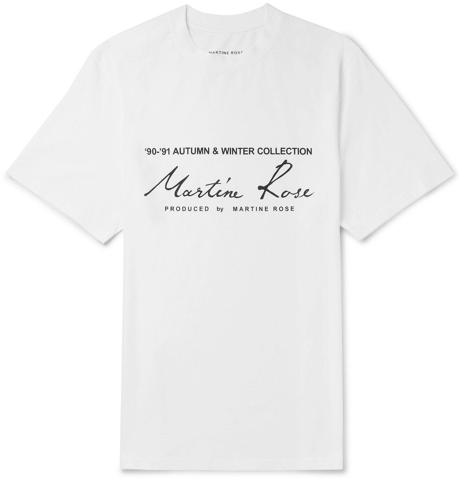 Photo: Martine Rose - Logo-Print Cotton-Jersey T-Shirt - White