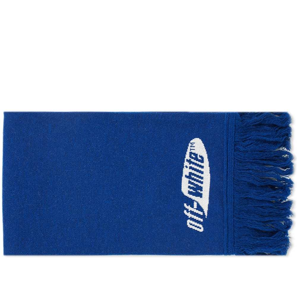 Photo: Off-White Split Logo Scarf Blue & White