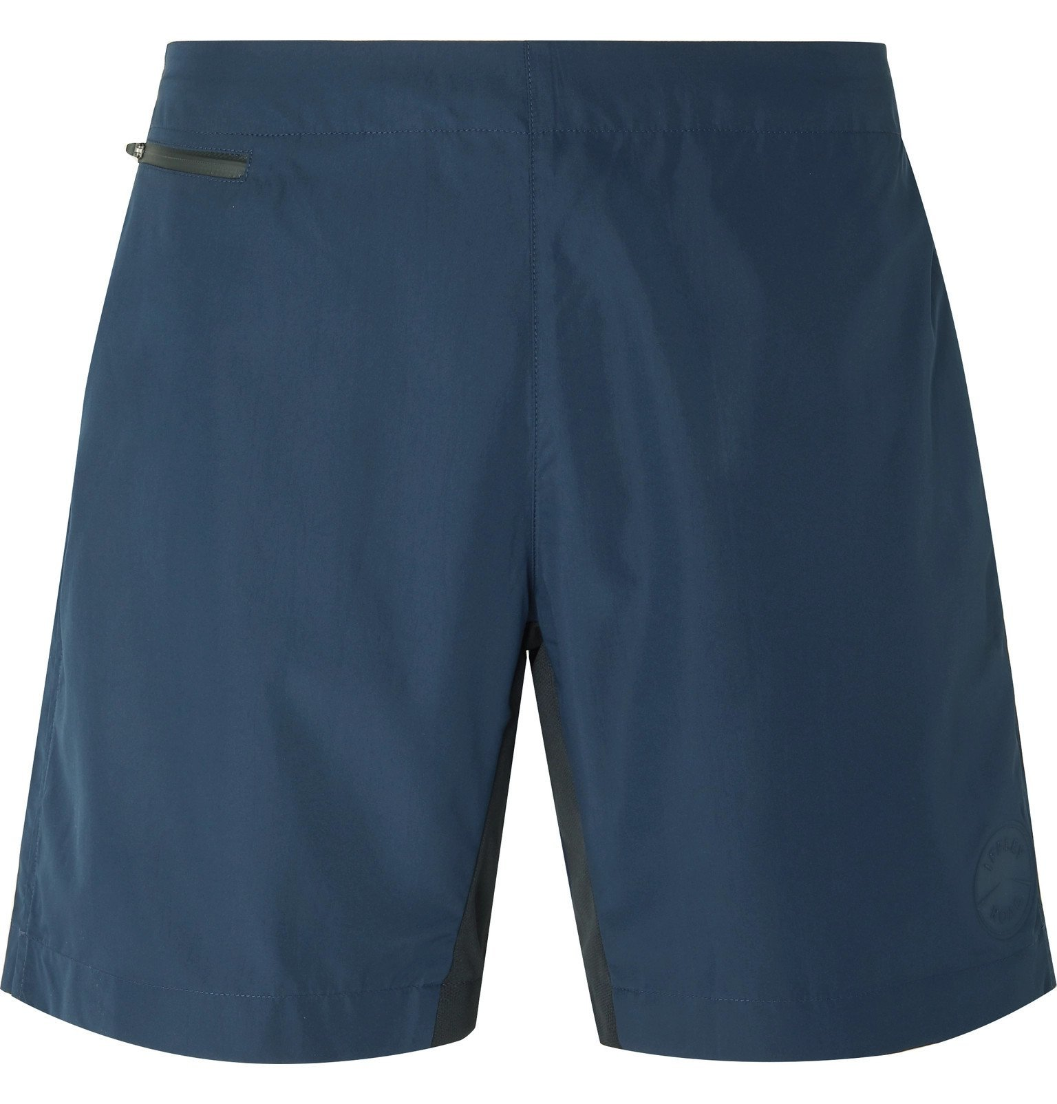 Photo: Iffley Road - Brighton Wide-Leg Shell Shorts - Blue