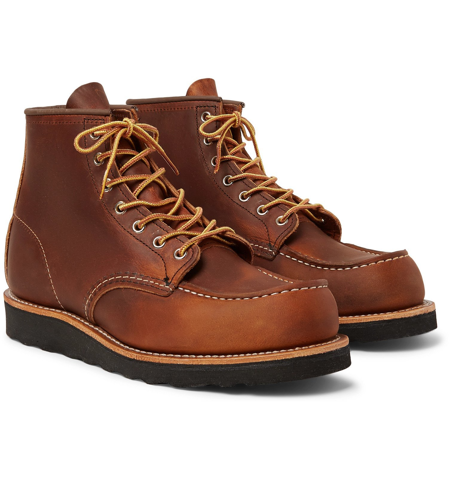 Photo: Red Wing Shoes - 8138 6-Inch Moc Leather Boots - Brown