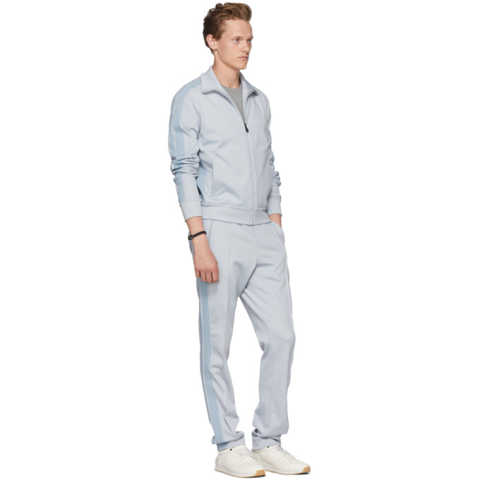 Bottega Veneta Blue Zip-Up Track Jacket