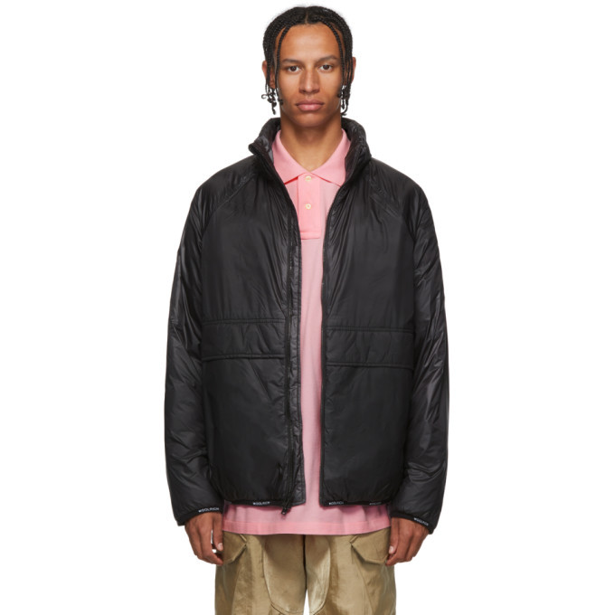 Photo: Woolrich John Rich and Bros Black Pack-It Jacket