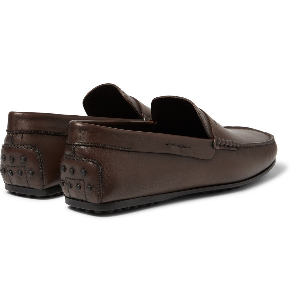 Tod's - City Gommino Leather Penny Loafers - Men - Brown
