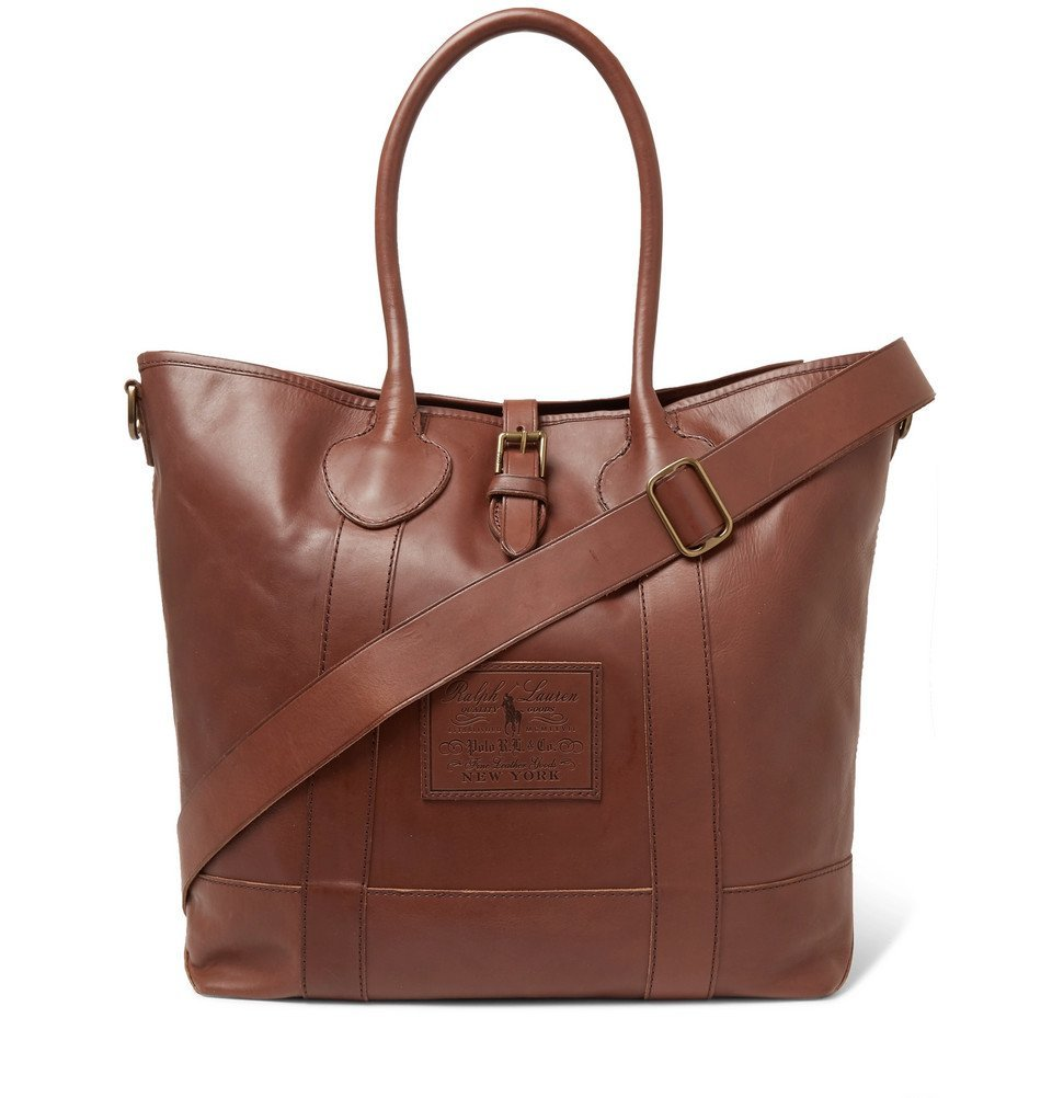 Photo: Polo Ralph Lauren - Leather Tote Bag - Brown