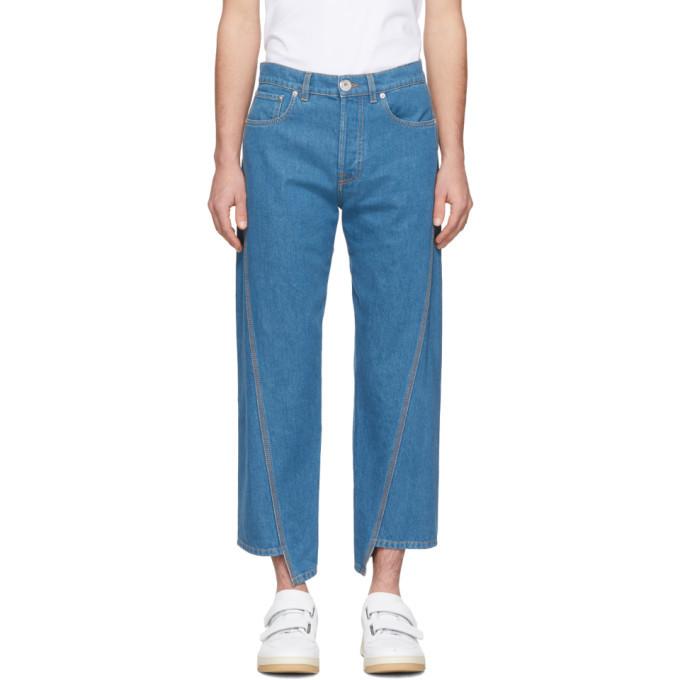 Photo: Lanvin Blue Twisted Seam Jeans