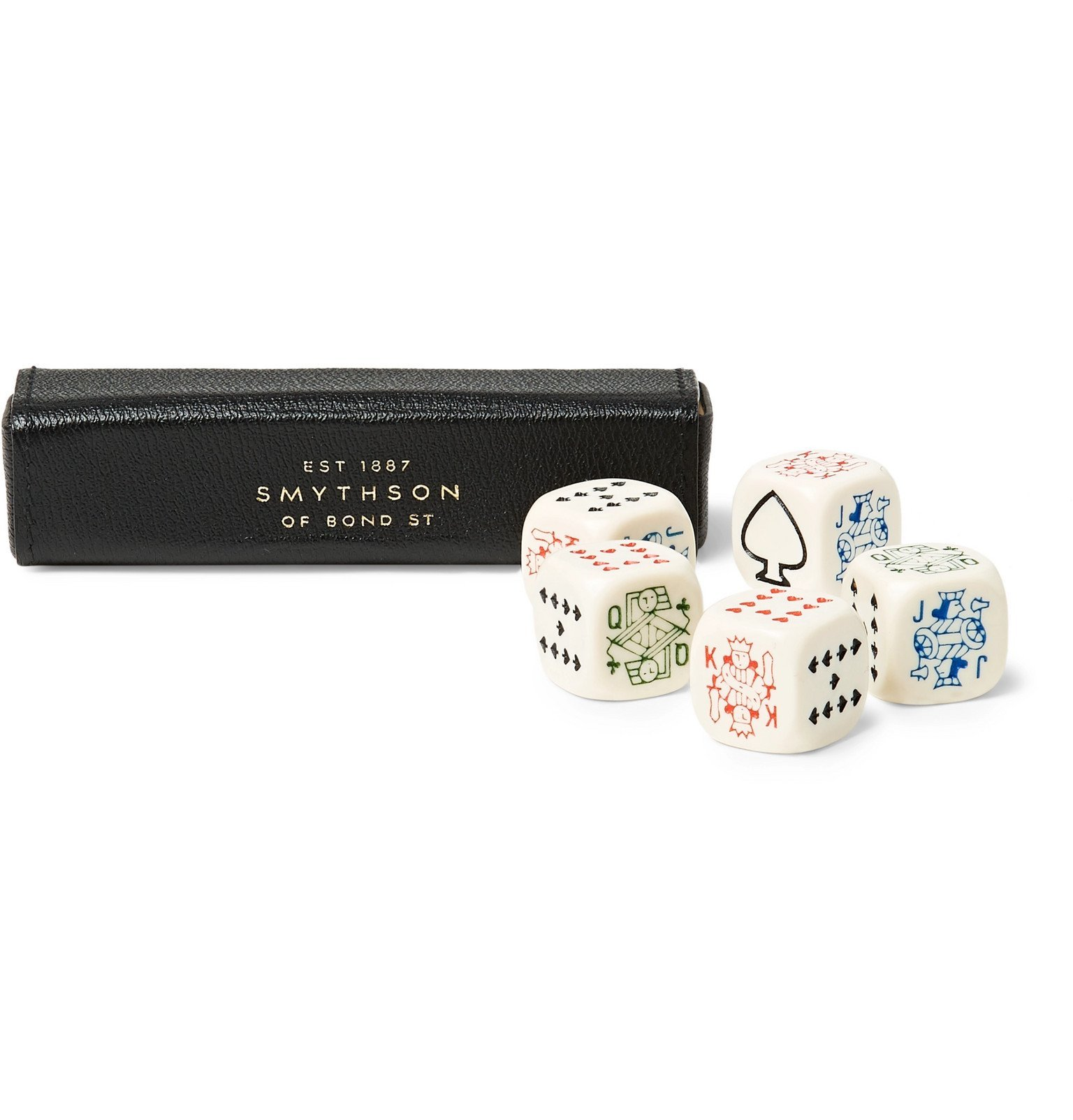 Smythson - Grosvenor Poker Dice - Black