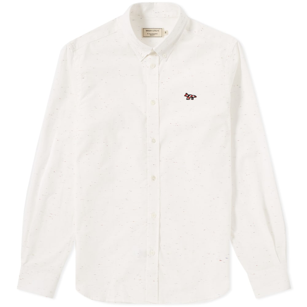Photo: Maison Kitsuné Button Down Flecked Classic Shirt