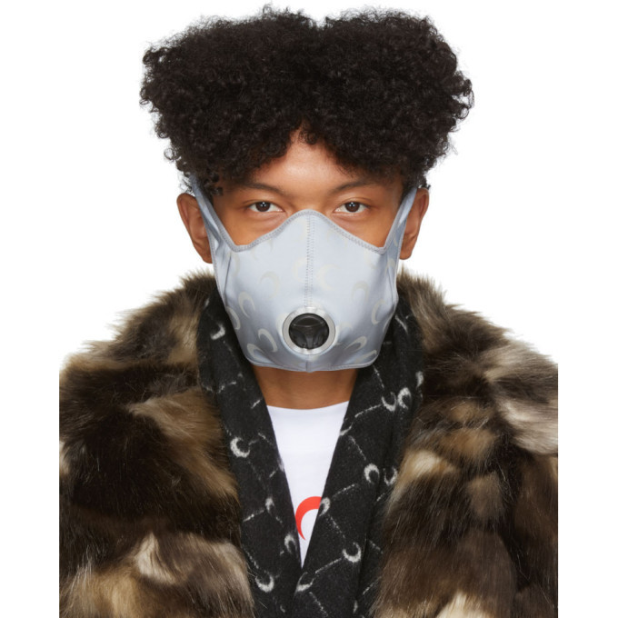Photo: Marine Serre Silver R-PUR Edition Reflective Moon Anti Pollution Mask