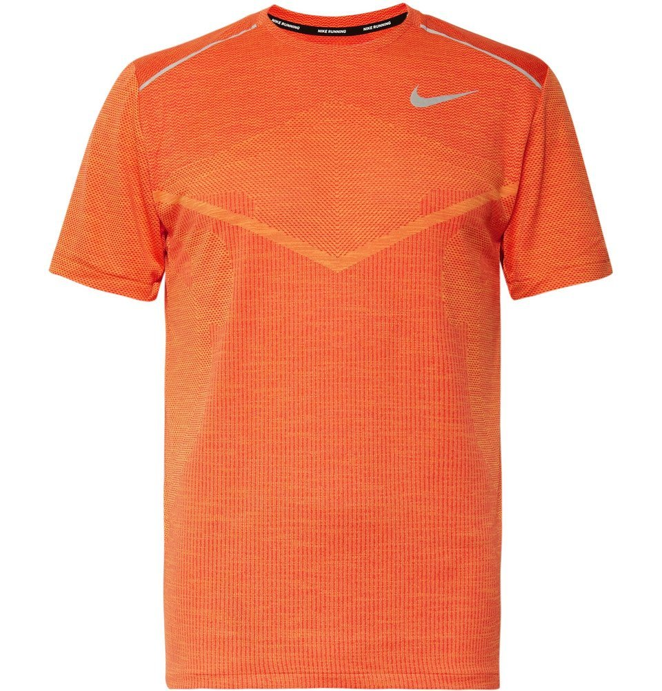 Photo: Nike Running - Ultra TechKnit T-Shirt - Orange