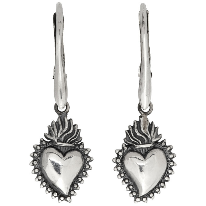 Photo: Ugo Cacciatori Silver Tiny Ex Voto Hoop Earrings