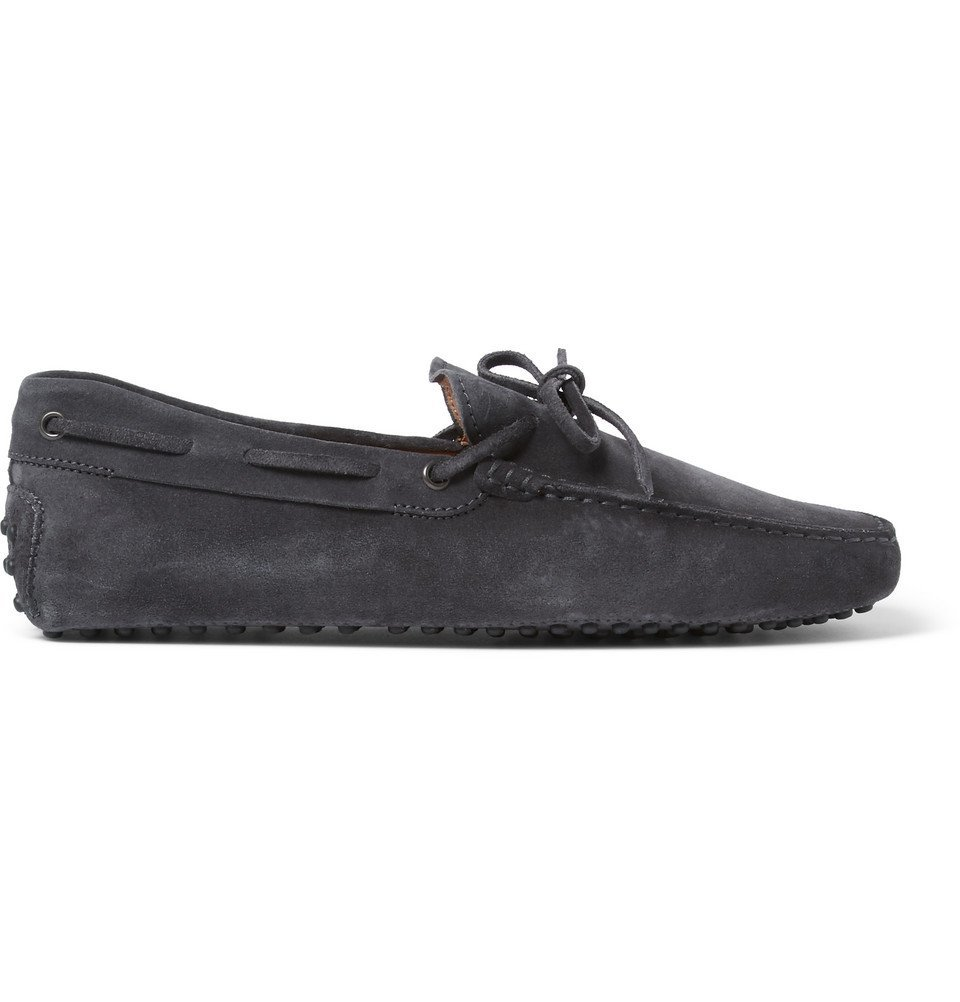 Tod's - Gommino Suede Driving Shoes - Men - Dark gray