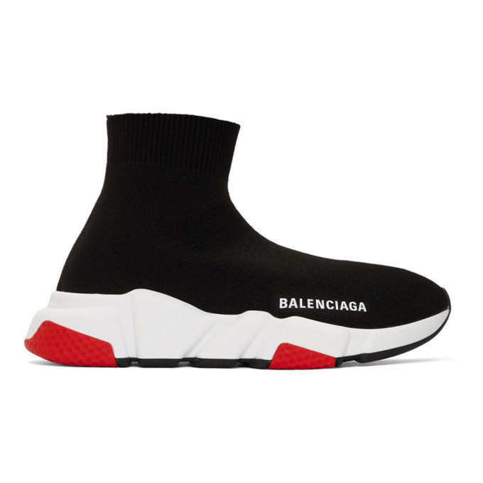 Photo: Balenciaga Black and Red Speed Sneakers