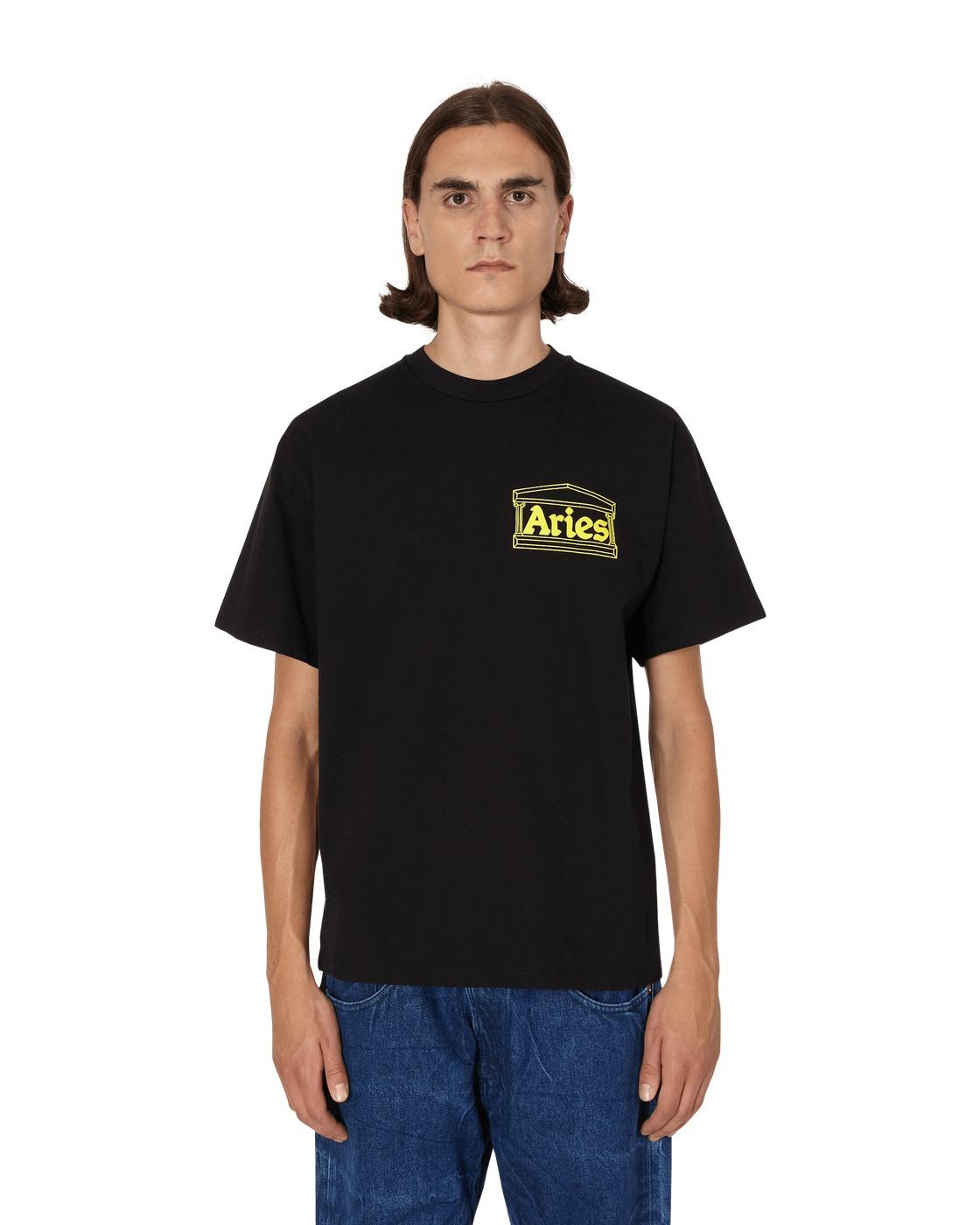 Aries Hands Off T Shirt Black