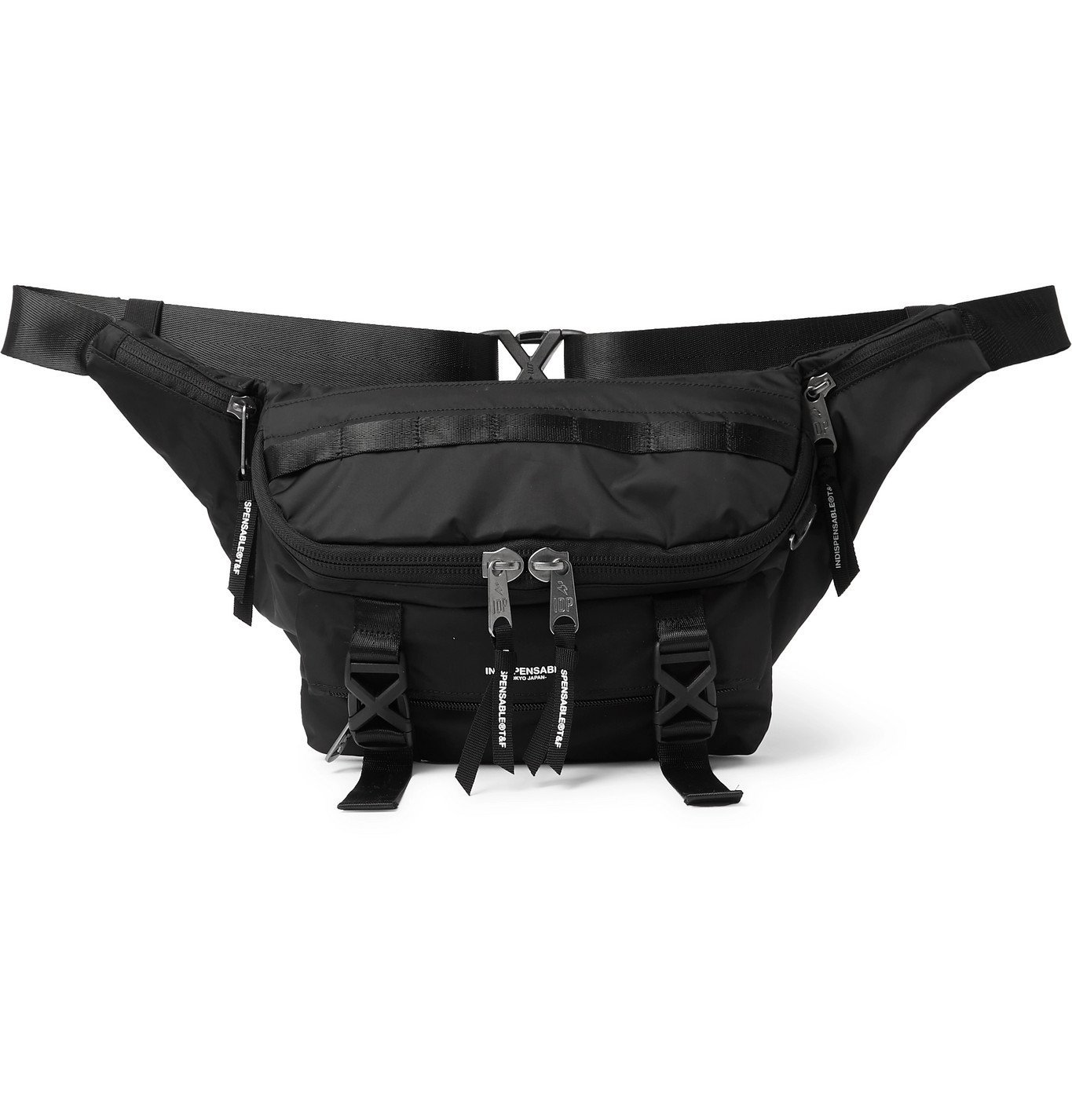 Photo: Indispensable - Webbing-Trimmed ECONYL Belt Bag - Black