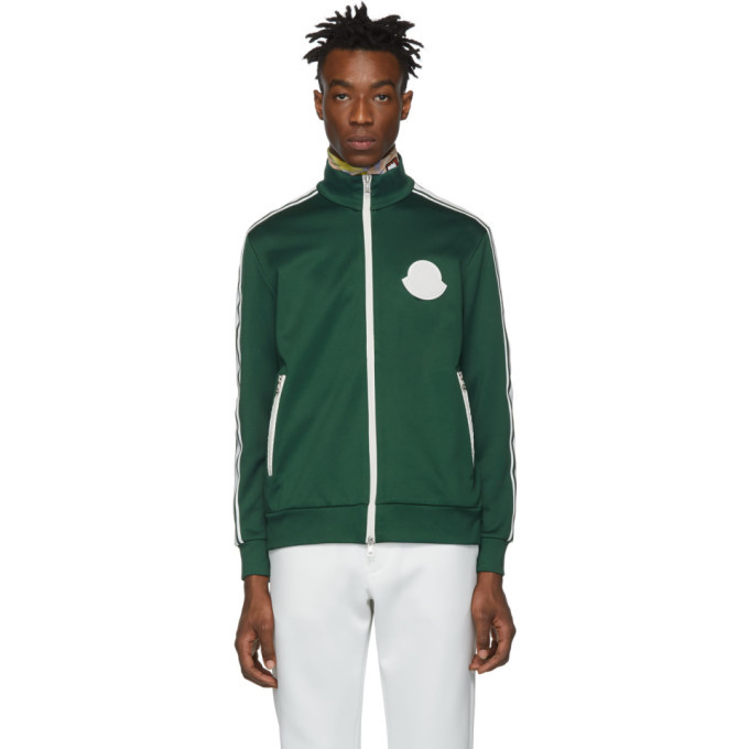 Photo: Moncler Green Jersey Zip Up Sweater