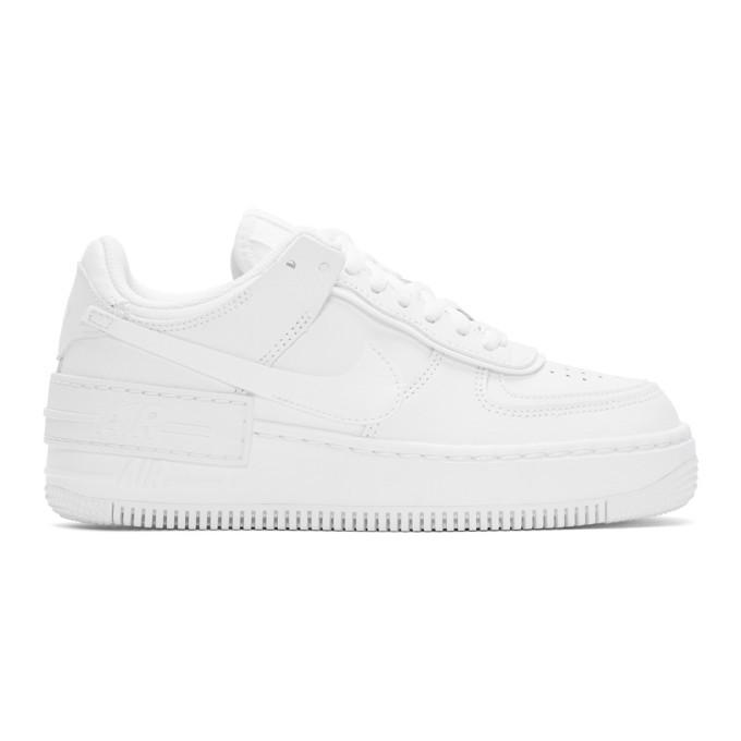 Nike White Air Force 1 Shadow Sneakers Nike