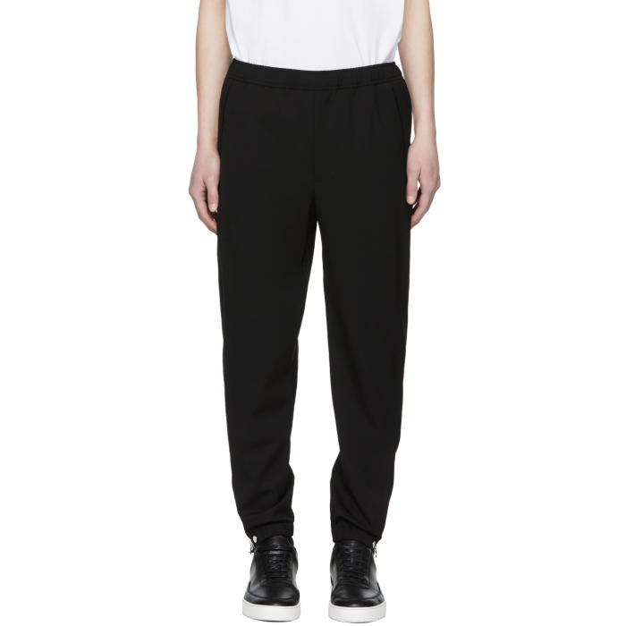 Photo: Tim Coppens Black Wool Staple Jogger Trousers
