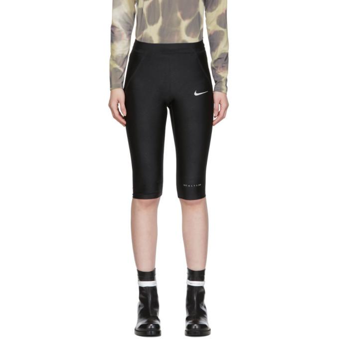 1017 ALYX 9SM Black Nike Edition Glitter Cropped Training Leggings