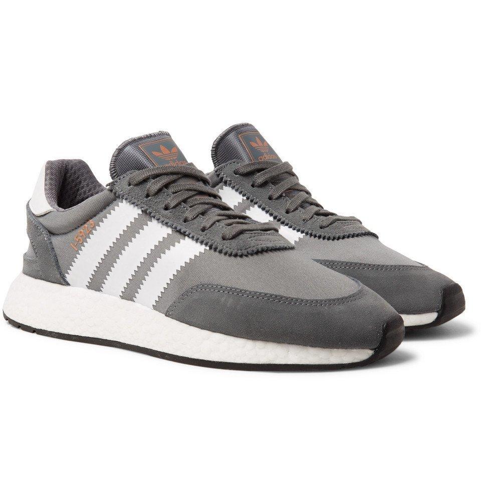 adidas Originals - I-5923 Suede-Trimmed Neoprene Sneakers - Men - Gray