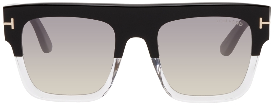 Photo: TOM FORD Black & Transparent Renee Sunglasses