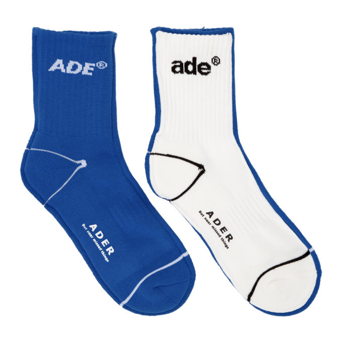 Photo: ADER error Blue and White Ade Sewing Socks