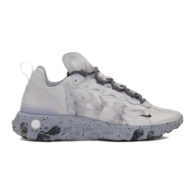 Photo: Nike Grey Kendrick Lamar Edition React Element 55 Sneakers