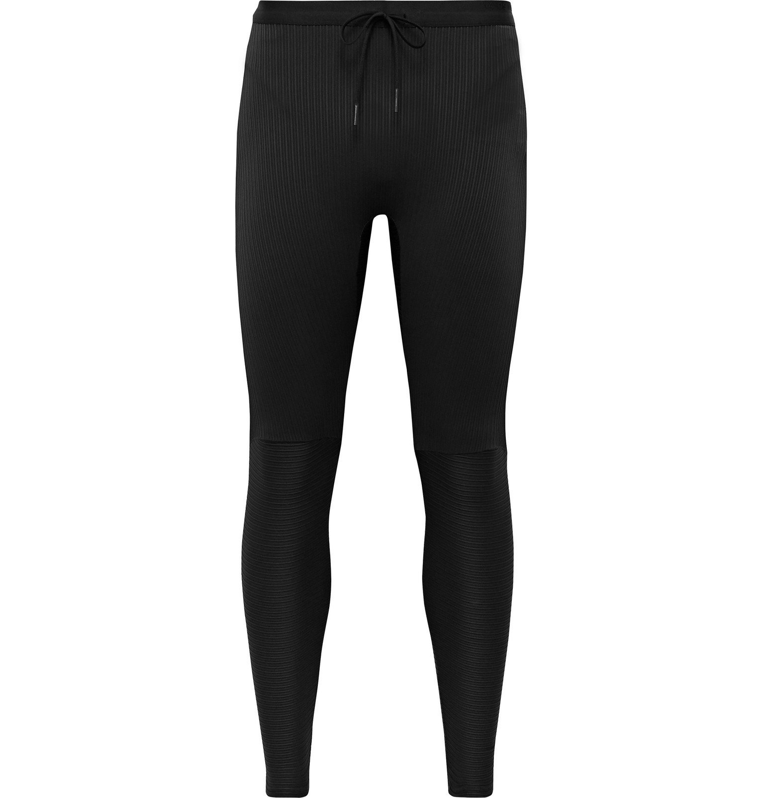 Photo: Nike Running - Tech Pack Ribbed Stretch-Jersey Tights - Black