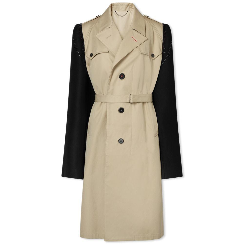 Photo: Maison Margiela Contrast Sleeve Trench Coat