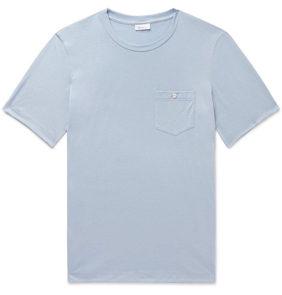 Schiesser - Josef Cotton-Jersey T-Shirt - Blue