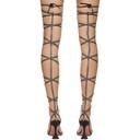 Amina Muaddi Black AWGE Edition Thigh-High LSD Gladi Heeled Sandals