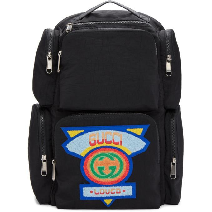 Photo: Gucci Black Multi Pocket Backpack