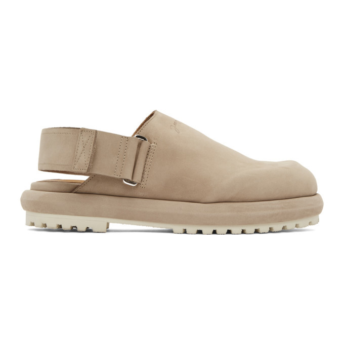 Photo: Jacquemus Taupe Nubuck Les Mules Shoes