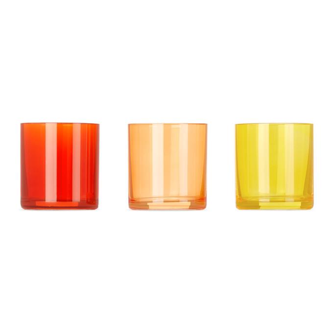 Photo: Lateral Objects Multicolor Bonfire Glow Votive Set